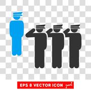 Army Squad Eps Vector Icon Stock Illustration
