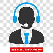 Call Center Eps Vector Icon Stock Illustration