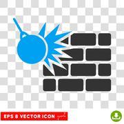 Destruction Eps Vector Icon Stock Illustration