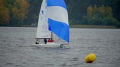 Sailing Yacht Regatta Stock Footage