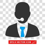 Telemarketing Operator Eps Vector Icon Piirros