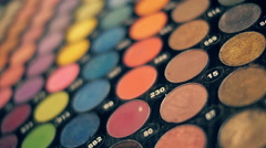 A large set of cosmetic palette of various colors Stock Footage