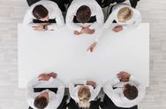 Business team around the table Stock Photos