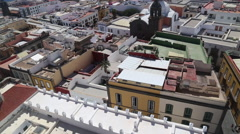 Las Palmas de Gran Canaria. View from Santa Ana Cathedral Stock Footage