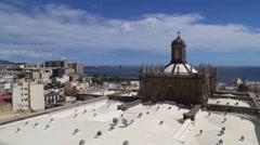 Las Palmas de Gran Canaria. View from Santa Ana Cathedral. 3 camera angles Stock Footage