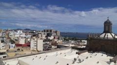 Las Palmas de Gran Canaria. View from Santa Ana Cathedral... Stock Footage