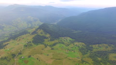 Mountain landscape with a bird's eye view Stock Footage