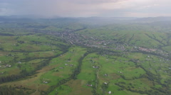 Beautiful landscape of a mountain valley. Aerial view Stock Footage