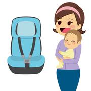 Baby Car Seat Stock Illustration