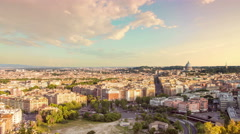 Rome skyline cityscape timelapse from day to night Stock Footage