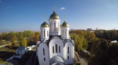 View of Orthodox church Stock Footage
