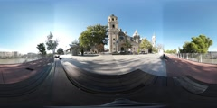 360 Spherical VR Video of Basílica del Pilar in Zaragoza, Spain. Stock Footage