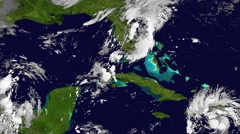 The Hurricane Matthew, tornado,satellite view, animation. High speed time lapse. Stock Footage