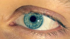 Big blue eye Stock Footage