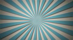 A simple rotating blue sun ray animation Stock Footage
