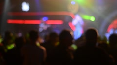 Blur Young people dancing in night club Stock Footage