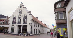 Historical house in Coevorden, the Netherlands Stock Footage