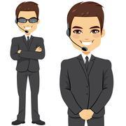 Secret Agent Bodyguard Stock Illustration