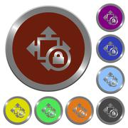 Color size lock buttons Piirros