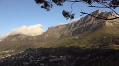 Cape Town Table Mountain city and sea Stock Footage