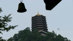 China - Pagoda temple Qingcheng mountain Chengdu, Stock Footage