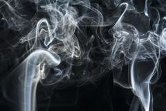 Motion of white smoke, smoky background Stock Photos
