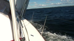 Sailing in the summer Stock Footage