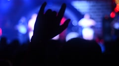 Hands up in club party Stock Footage