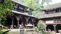 China Taoist mountain temple  Stock Footage