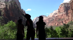 Rocks Zion silhouette Stock Footage