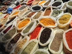 Spices in market Stock Photos