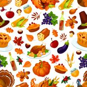 Thanksgiving day traditional celebration pattern Stock Illustration