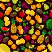 Fruits seamless pattern background Stock Illustration