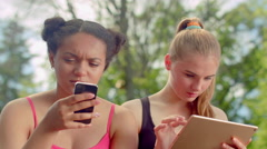 Friends laughing. Multiracial women smiling together. Close up of happy faces Arkistovideo