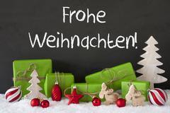 Decoration, Cement, Snow, Frohe Weihnachten Means Merry Christmas Kuvituskuvat