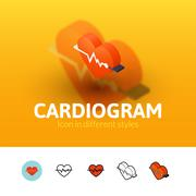 Cardiogram icon in different style Stock Illustration