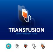 Transfusion icon in different style Stock Illustration