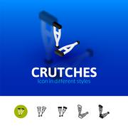 Crutches icon in different style Stock Illustration