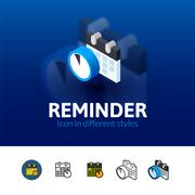 Reminder icon in different style Stock Illustration