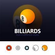 Billiards icon in different style Piirros