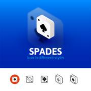 Spades icon in different style Stock Illustration