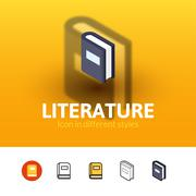 Literature icon in different style Stock Illustration