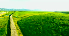 Wet land in Shanxi Stock Footage