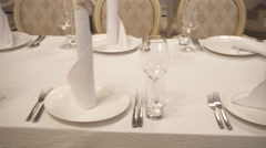 Festive Table Setting Stock Footage