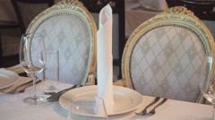 Correct Elegant Table Setting Stock Footage