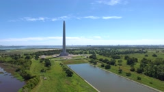 San Jacinto Monument in Texas. Stock Footage