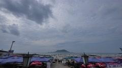 Jeju Hyeopje Beach Timelapse Stock Footage