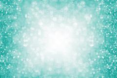 Teal Turquoise Aqua Glitter Confetti Border Stock Illustration