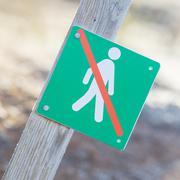 Forbidden to walk over here - Iceland Stock Photos