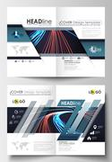 Templates for brochure, magazine, flyer, booklet or report. Cover template, easy Stock Illustration